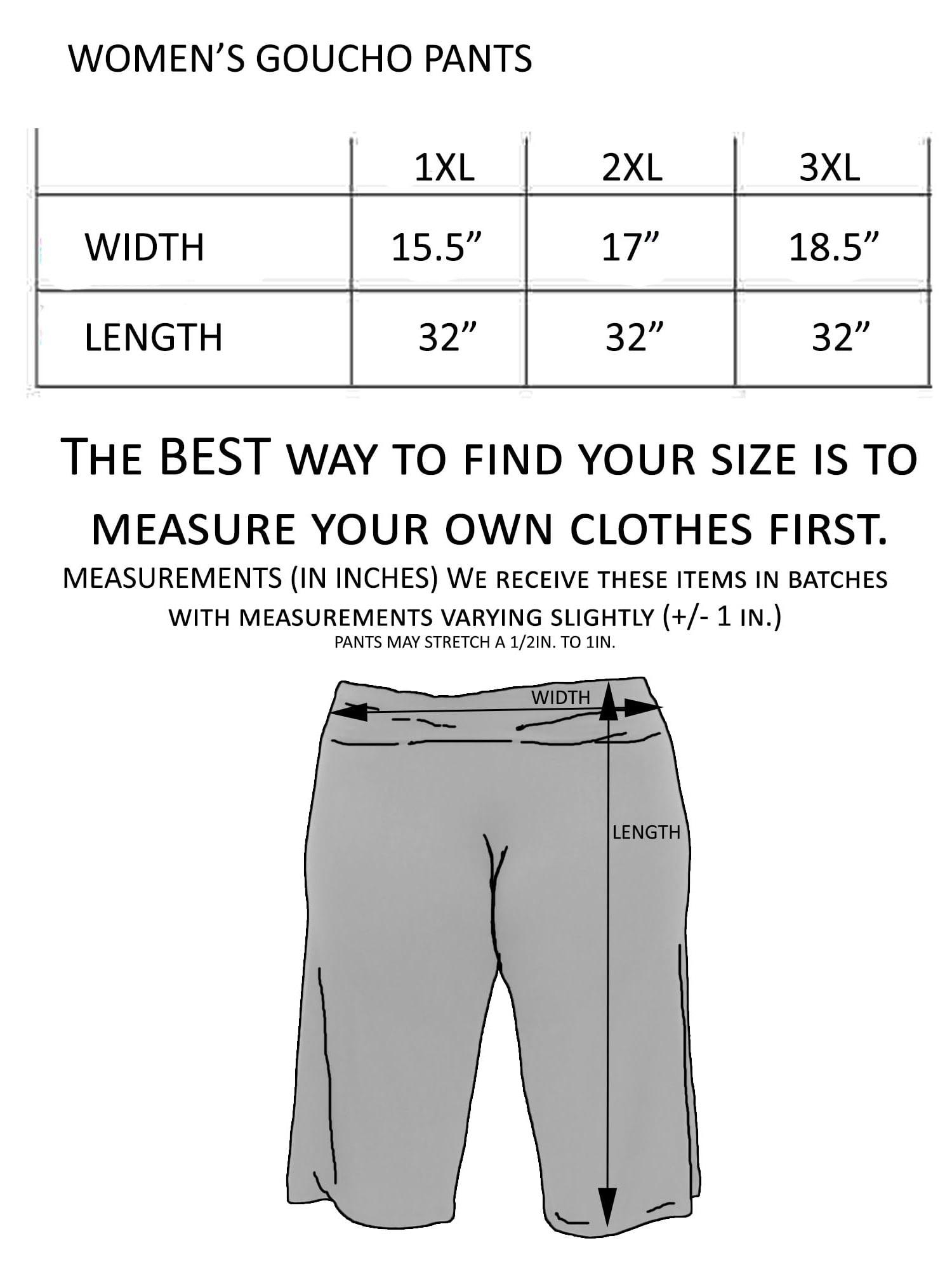 eb1d31141e3 Plus Size Women s Gaucho Pants