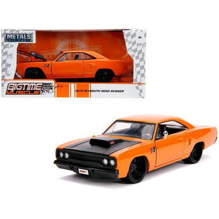 1970 Plymouth Road Runner Orange with Black Hood