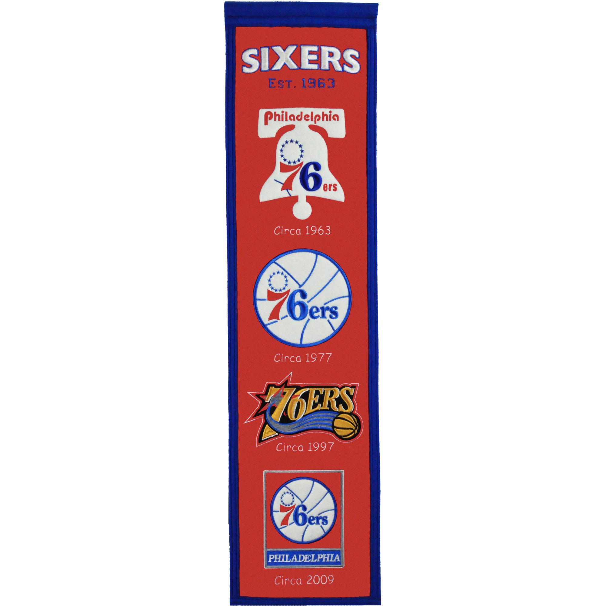 """Philadelphia 76ers 8"""" x 32"""" Premium Heritage Banner - No Size"""