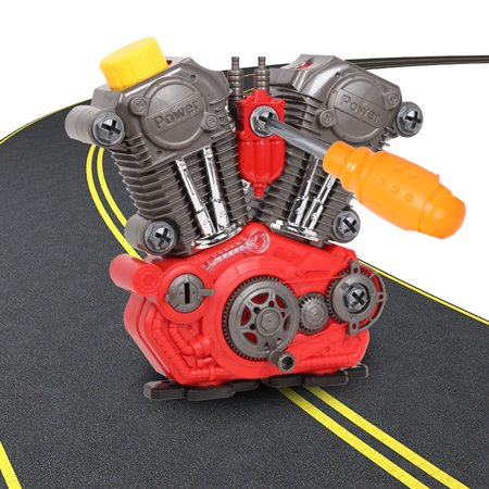 KARMAS PRODUCT Boys Build-Your-Own Engine Play Set and Power Drill Kit Prented - Toy Engine Kit