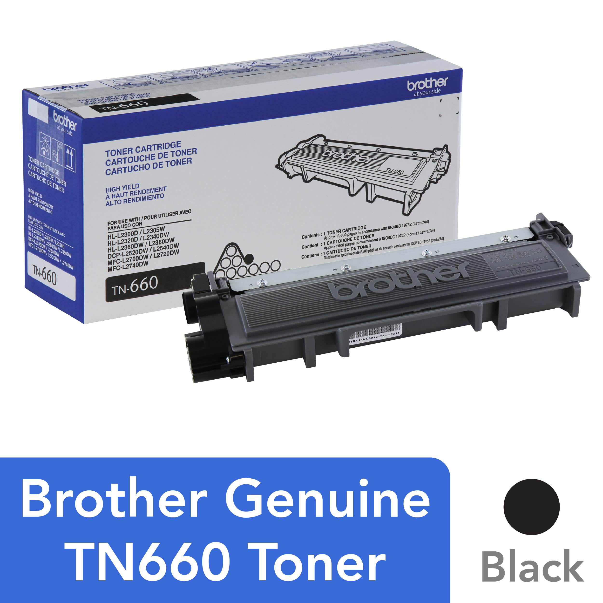 1 DR630 Drum for Brother DR660 MFC-L2720DW MFCL2740DW High Yield 5 TN660 Toner