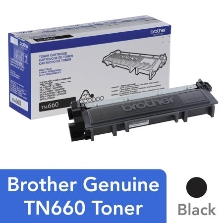 Brother Genuine High Yield Toner Cartridge, TN660, Replacement Black Toner, Page Yield Up To 2,600 Pages ()