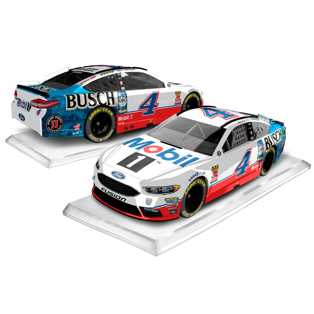 Kevin Harvick Action Racing 2018 #4 Mobil 1/Busch Beer 1:64 Regular Paint Die-Cast Ford Fusion - No Size