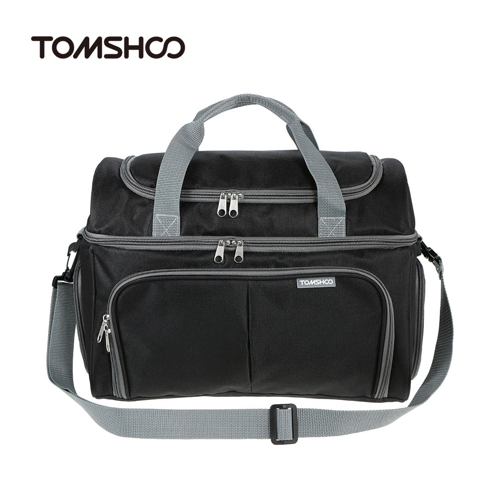 TOMSHOO Large Capacity Thermal Insulated Cooler Lunch Bag Food Box Handbag Outdoor Camping Storage Bag