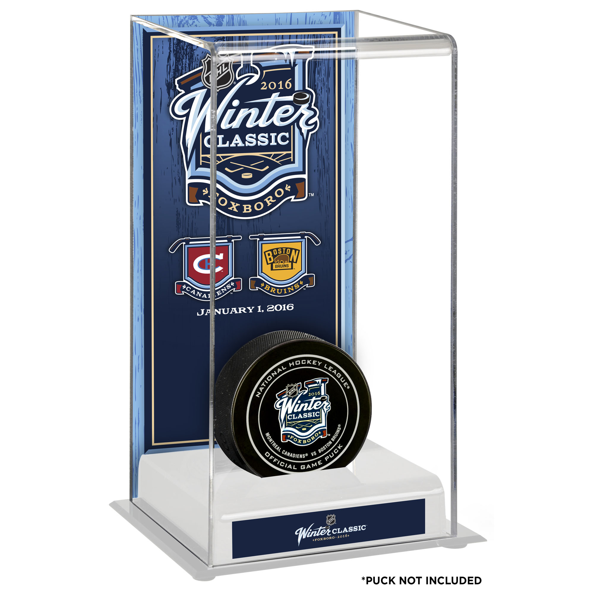 Fanatics Authentic 2016 NHL Winter Classic Montreal Canadiens vs. Boston Bruins Deluxe Tall Hockey Puck Display Case No... by Fanatics Authentic