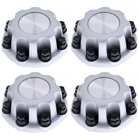 Silverado 3500 Pickup (Set of 4 Replacement Aftermarket SILVER Center Caps 16