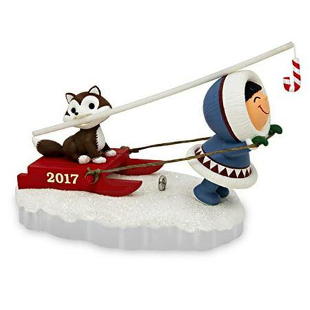 Hallmark Keepsake 2017 Frosty Friends Dog Sled Christmas (Sleigh Bells Ornaments Set)