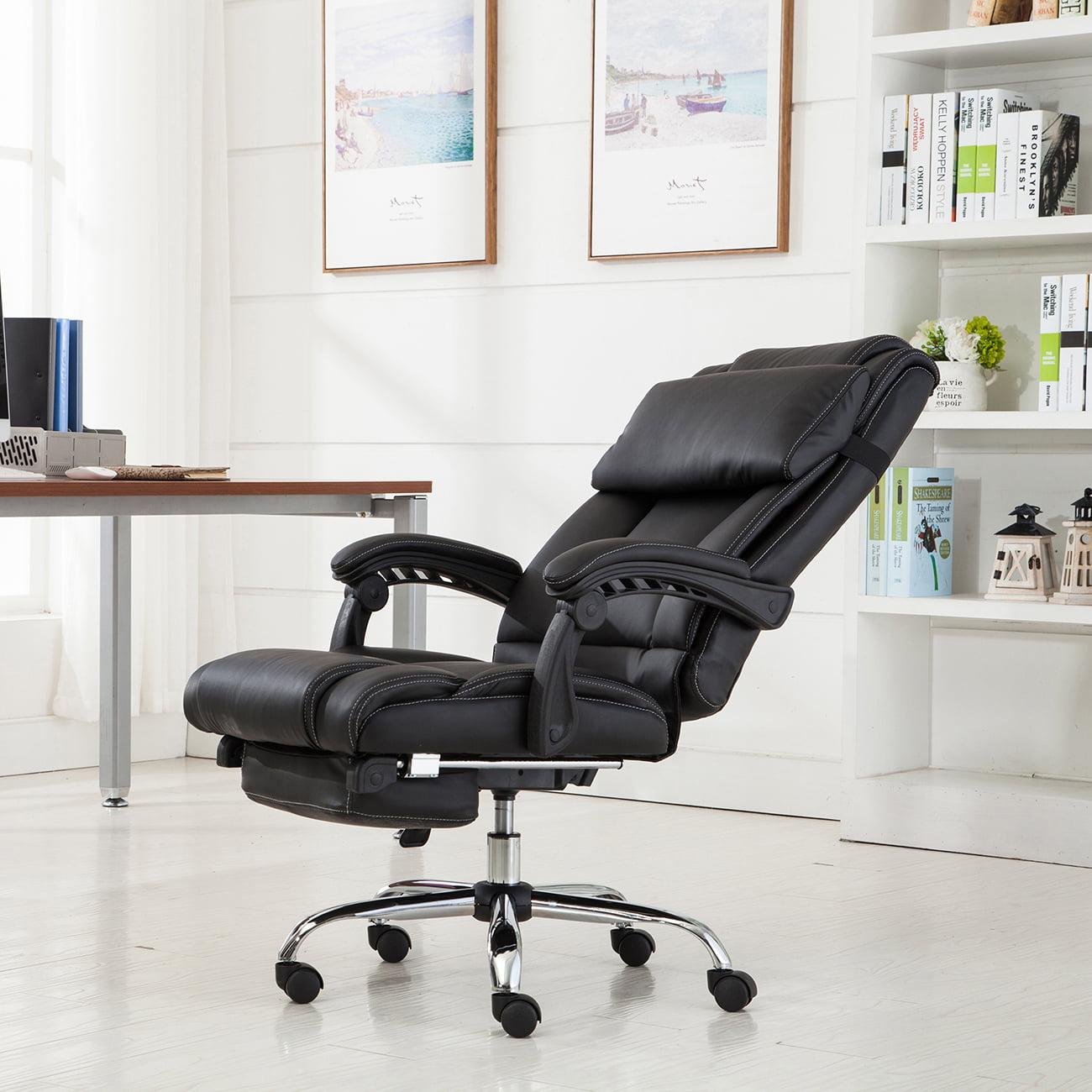 Belleze Executive Reclining Office Chair High Back w/ Footrest Armchair Recline + Pillow -Black - Walmart.com & Belleze Executive Reclining Office Chair High Back w/ Footrest ... islam-shia.org