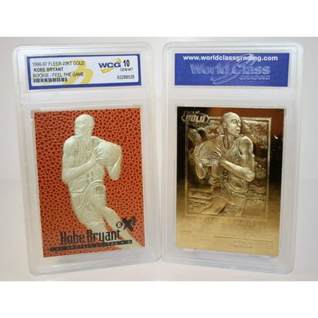 KOBE BRYANT 1996-97 Fleer Rookie FEEL THE GAME 23KT Gold Card GEM MINT (Card Complete Mint)
