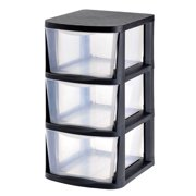 Product of Muscle Rack 3-Drawer Clear Plastic Storage Tower with Black Frame - Drawers & Cabinet Organizers [Bulk Savings]