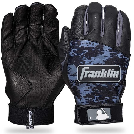Franklin Sports Digitek Batting Gloves Black/Black Digi Adult