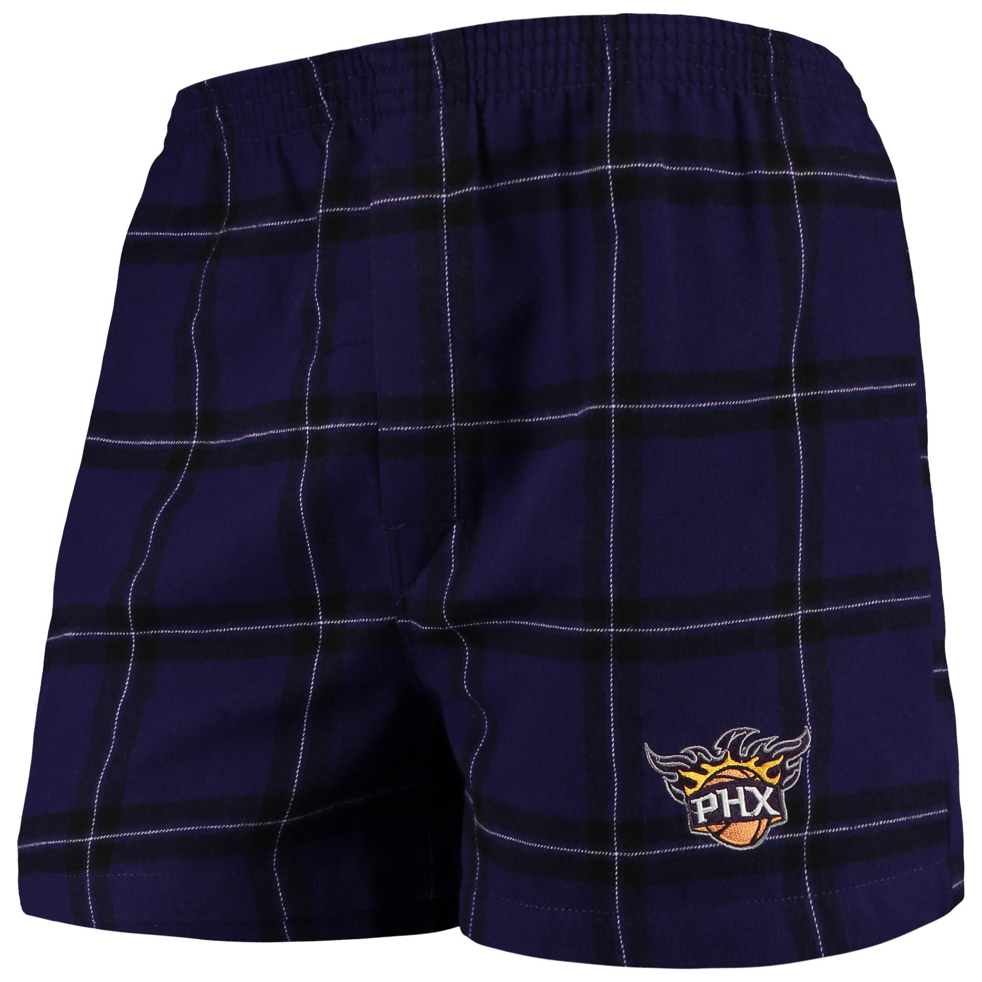 Phoenix Suns Concepts Sport Homestretch Flannel Boxer Shorts - Purple