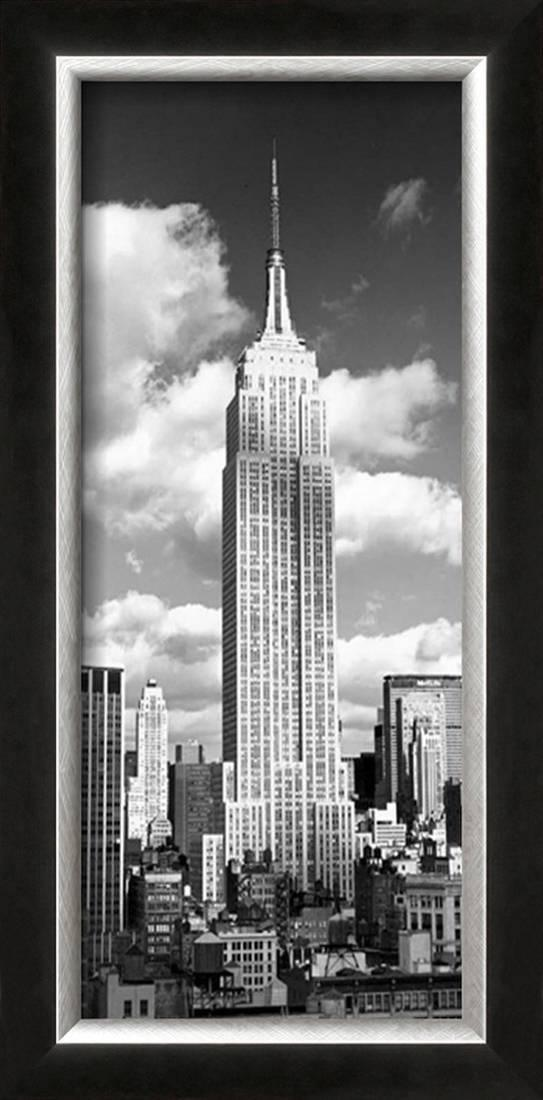Empire State Building Framed Artwork Print Wall Artwork By Henri Silberman 10.5x20.5 by Art.com