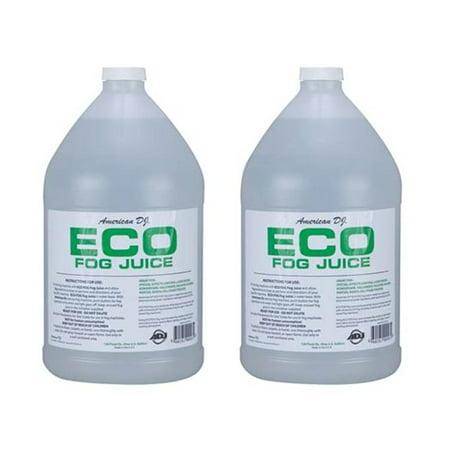 Fog Machine Liquid ((2) AMERICAN DJ ECO-FOG/G Gallons of Fog/Smoke/Haze Machine Refill Liquid)