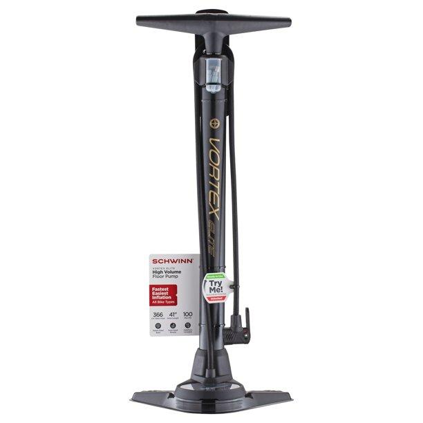 Schwinn Vortex Elite Floor Pump, black