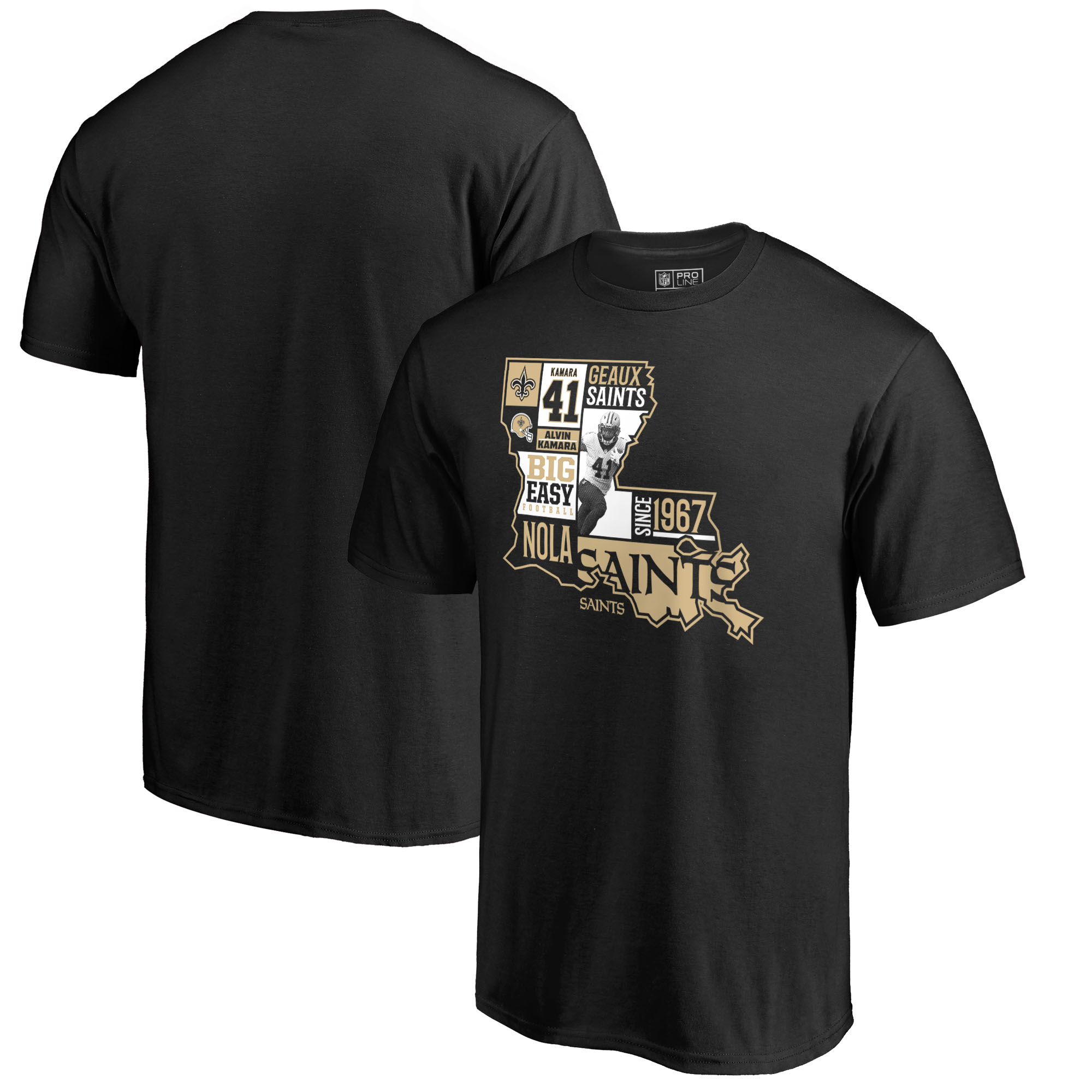Alvin Kamara New Orleans Saints NFL Pro Line by Fanatics Branded Player State T-Shirt - Black