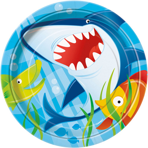 "7"" Ocean Shark Party Plates, 8ct"