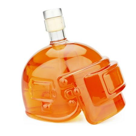 Crystal Helmet Bottling Creative Glass Skull Vodka Bottle Vodka Wine - Crystal Vodka