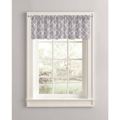 "Better Homes and Gardens Trellis Valance, 60"" x 14"", Rod Pocket"