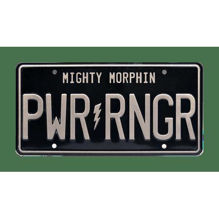 - Mighty Morphin Power Rangers | PWR RNGR | Metal Stamped Vanity License Plate