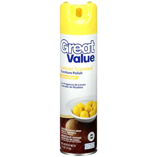 Great Value Lemon Scented Furniture Polish, 12.5 Oz