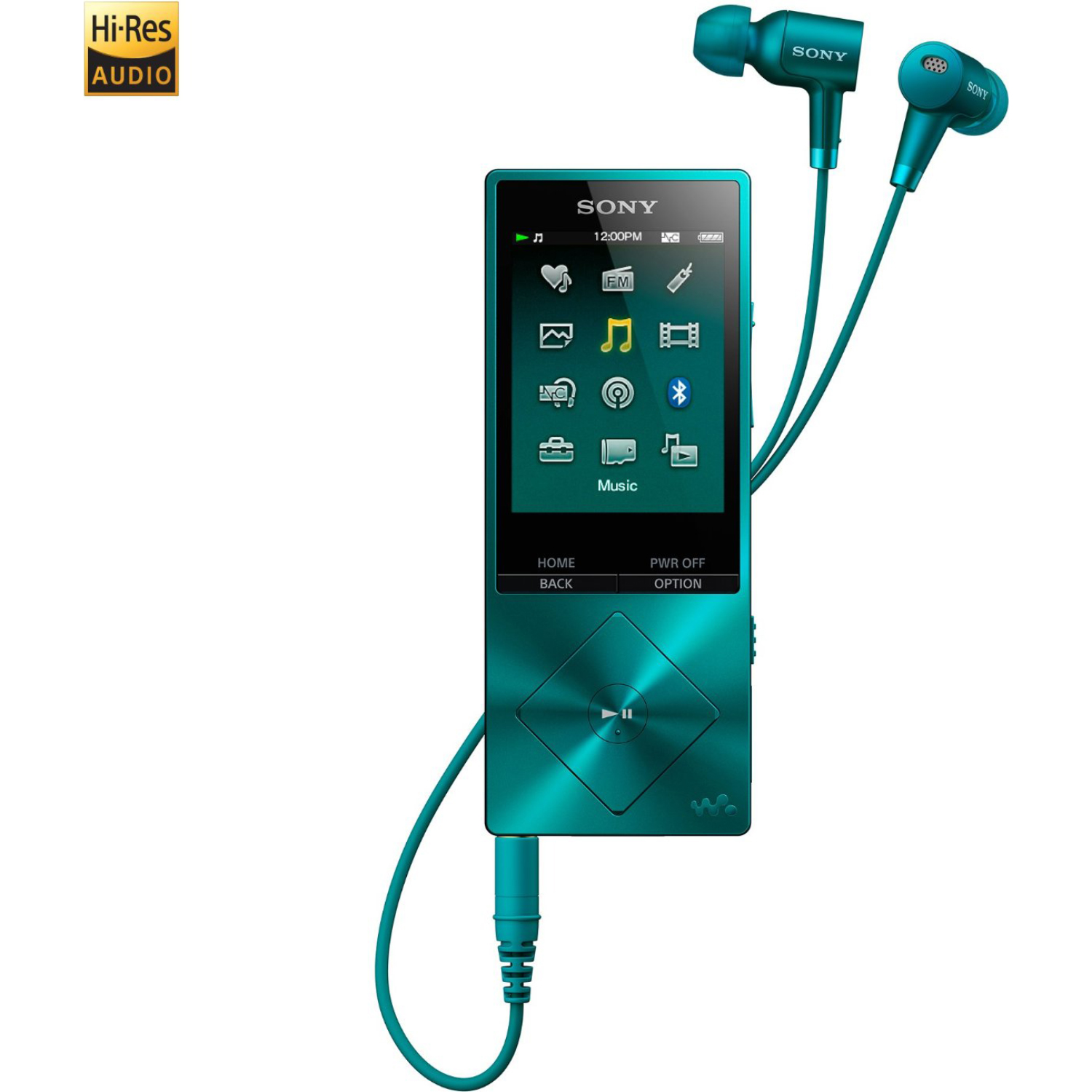 Sony NWA26HNLM Walkman NW-A20 Series 32GB* Hi-Res Digital Audio Player Viridian Blue