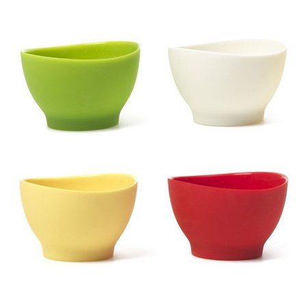 iSi Basics Flexible Silicone Pinch Bowl, Set Of 4, 1 Each, Red, White, Wasabi, - Each Bow