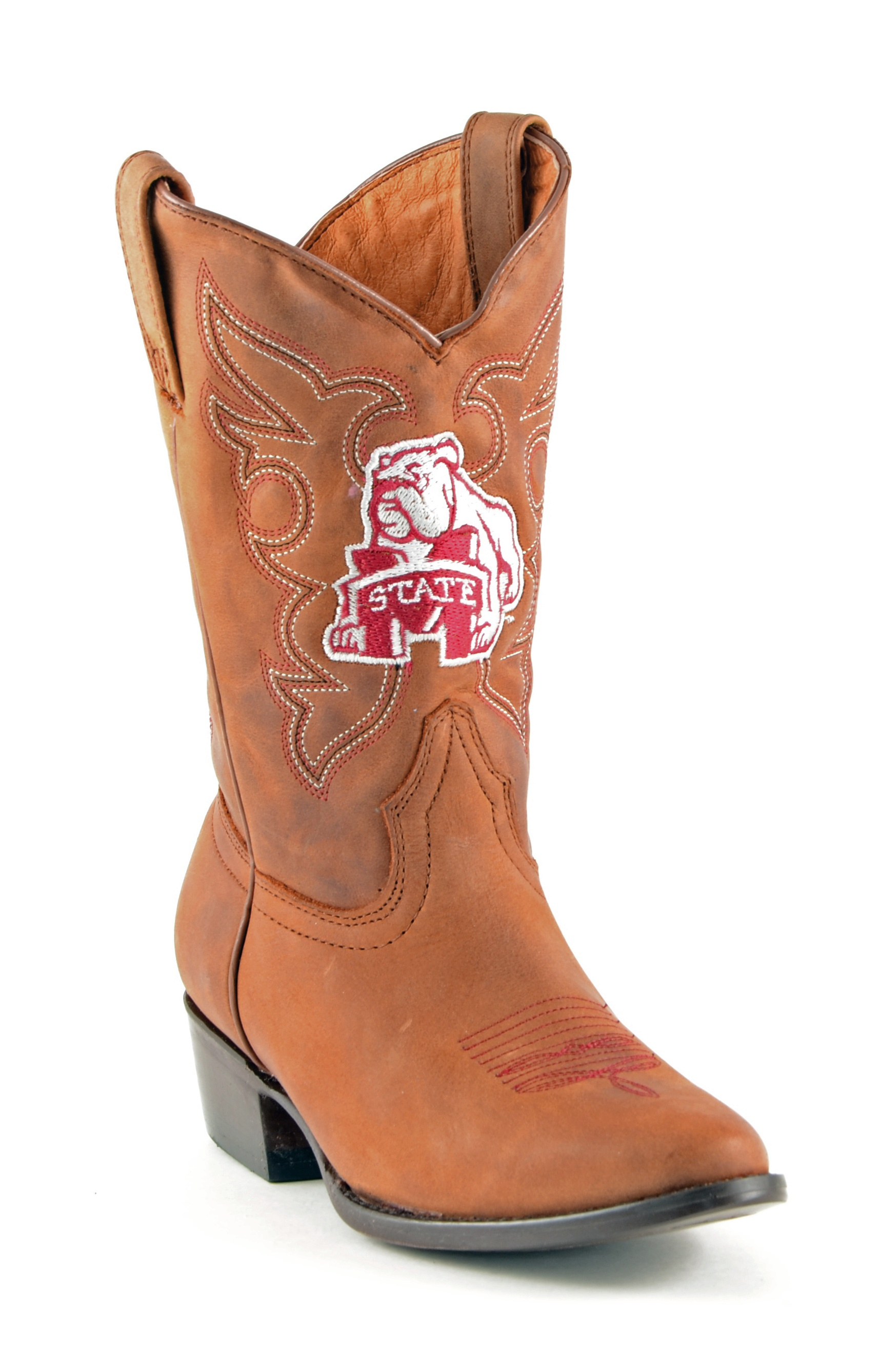 Gameday New Boys Honey Leather Mississippi State Western Cowboy Boots by GameDay Boots