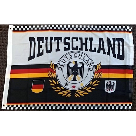Deutschland Germany Eagle Crest Rough Tex 100 D Polyester 2x3 Foot Flag