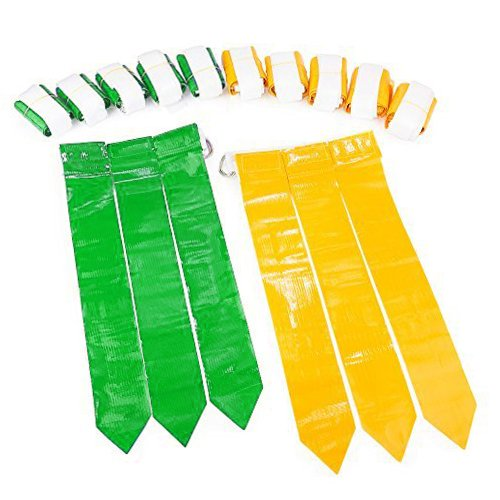 Flag Football Set 12 Belts, 18 Green Flags & 18 Yellow Flags, Up to 12 possible players Flag Football set for... by