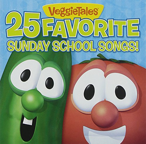 25 Favorite Sunday School Songs! By VeggieTales Format Audio CD by