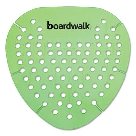 Boardwalk Gem Urinal Screen, Lasts 30 Days, Green, Herbal Mint Fragrance, 12/Box -BWKGEMHMI