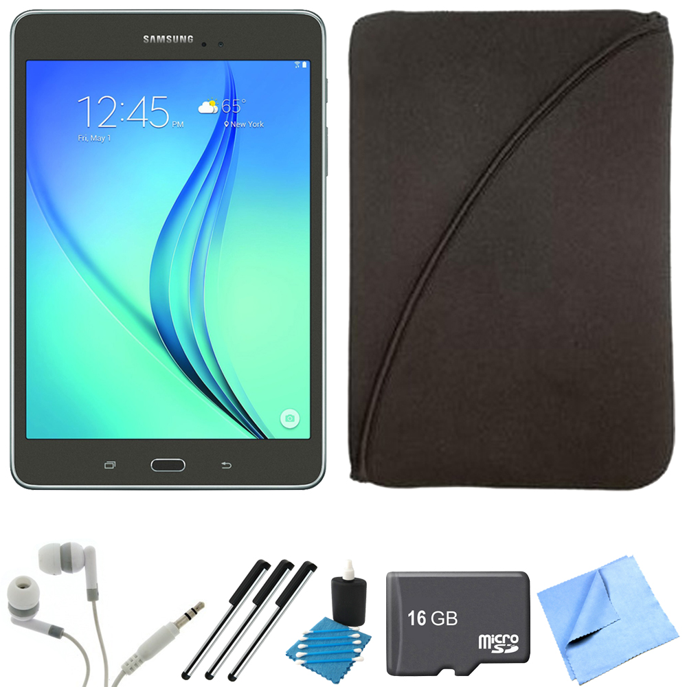 Samsung Galaxy Tab A 8-Inch Tablet (16 GB, Smoky Titanium) 16GB Memory Card
