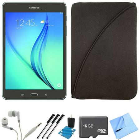 Samsung Galaxy Tab A 8-Inch Tablet (16 GB, Smoky Titanium) 16GB Memory Card