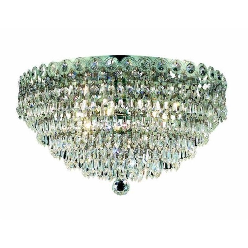 "Elegant Lighting Century 14"" 4 Light Spectra Crystal Flush Mount - image 1 of 1"