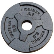Weider Standard Hammertone Weight Plate, 2.550 lbs, Single