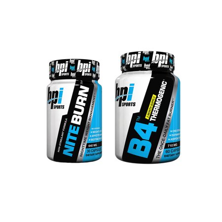 BPI B4 60 Capsules + Nite Burn 30 Capsules Fat Burner Combo (Bpi Sports B4 Pre Training Fat Burner Review)