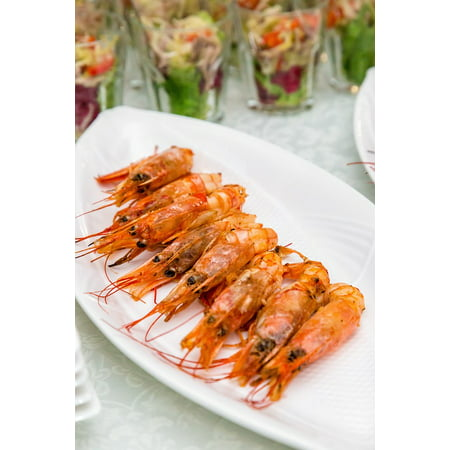 LAMINATED POSTER Appetizer Restaurant Banquet Shrimp Food Snacks Poster Print 24 x - Halloween Shrimp Appetizers