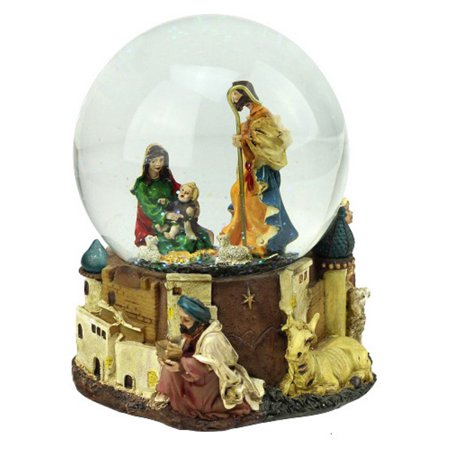 (Northlight Nativity Scene Musical Christmas Snow Globe)