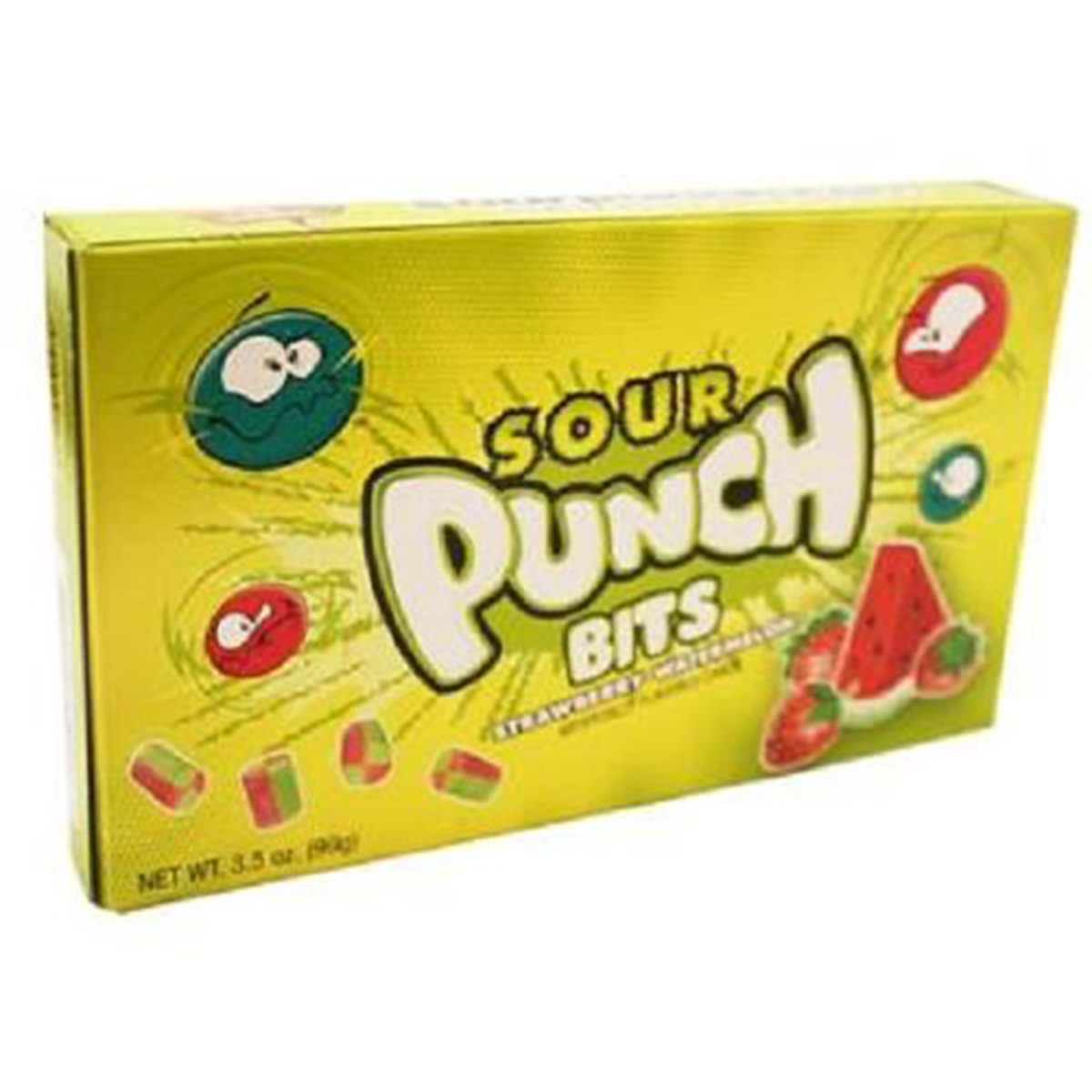 Product Of Sour Punch, Strawberry-Watermelon, Count 1 (3.5 oz) - Sugar Candy / Grab Varieties & Flavors
