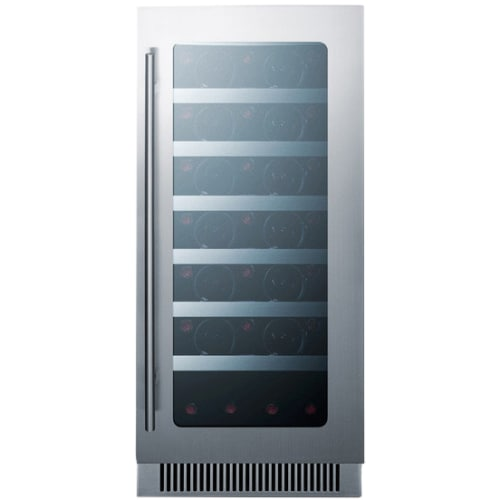 Summit CL15WC 34 Bottle 15 Built-In Seamless Cabinet Single Zone Wine Cooler
