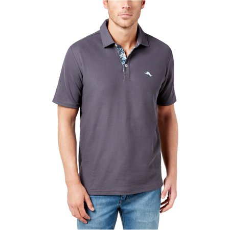 Tommy Bahama Mens Limited Edition Five O'Clock Rugby Polo Shirt, Grey, Small