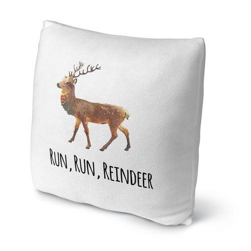 KAVKA DESIGNS Run, Run, Reindeer Throw Pillow