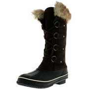 Kreated Equal Faux Fur Women's Tall Arctic Winter Boots, Cruelty Free, Lightweight - 8M - Brown