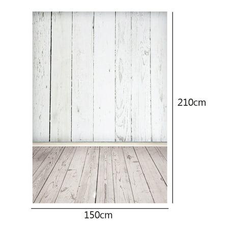 5x7FT Vinyl White Wood Floor Vintage Photography Backdrop Camera & Studio Photo Backgrounds Props - image 3 of 5