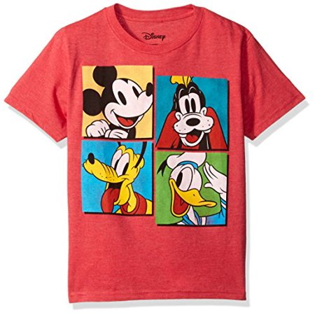 34e5076d Disney - Disney Big Boys' Mickey Mouse, Donald Duck and Goofy T-Shirt, Red  Heather, S - Walmart.com