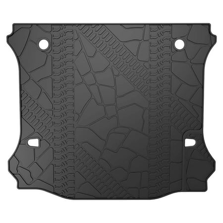 All Weather Cargo Liner Compatible for 2012-2019 Jeep Wrangler JK OEM Without Subwoofer, 4 Door only,TPE Material Cargo Mats,Black Cargo