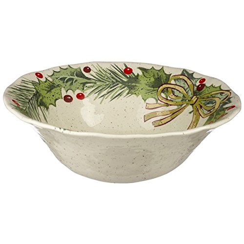 Grasslands Road Christmas Pinewood Dishwear, Serving Bowl