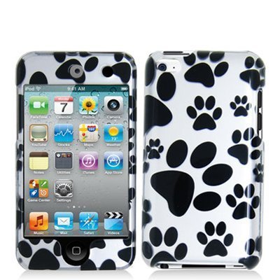 Design Crystal Hard Case for Apple iPod Touch 4th Gen - Monochrome Paw
