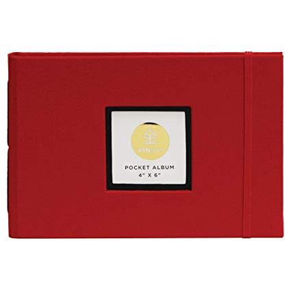 "Kinsho - KINSHO Pocket Albums - 4"" x 6"" - Red"
